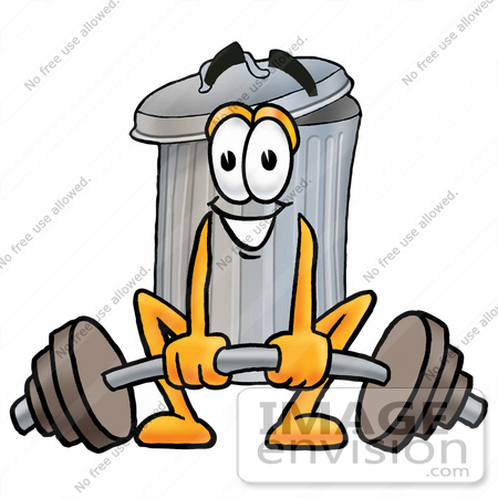 450x450 Cliprt Graphic Of Metal Trash Can Cartoon Character Lifting