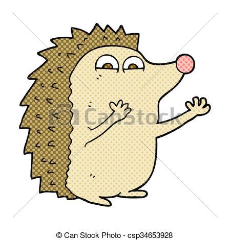449x470 Freehand Drawn Cartoon Cute Hedgehog Vector Illustration