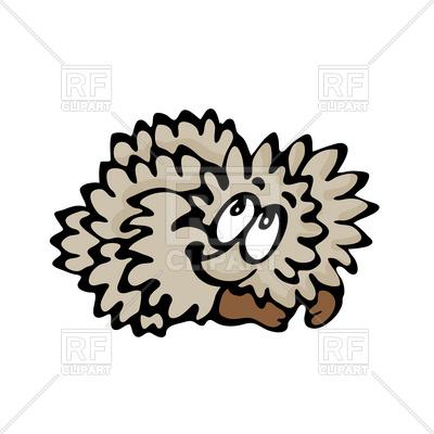 400x400 Funny Cute Cartoon Hedgehog Royalty Free Vector Clip Art Image