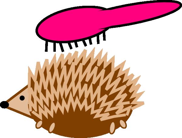 600x456 Hedgehog Hairbrush Clip Art