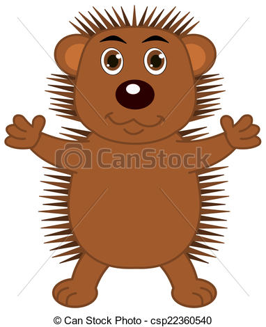 382x470 A Hedgehog With Open Arms Eps Vector