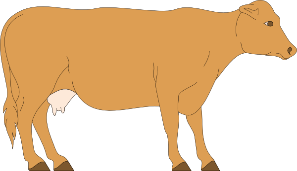 600x347 Brown Cow Clipart Clip Art At Clker Com Vector Online Royalty