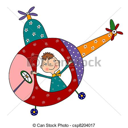 450x449 The Pilot Of The Helicopter. Colorful Graphic Illustration