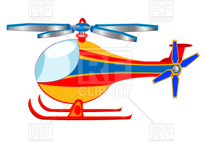 400x280 Cartoon Helicopter Royalty Free Vector Clip Art Image