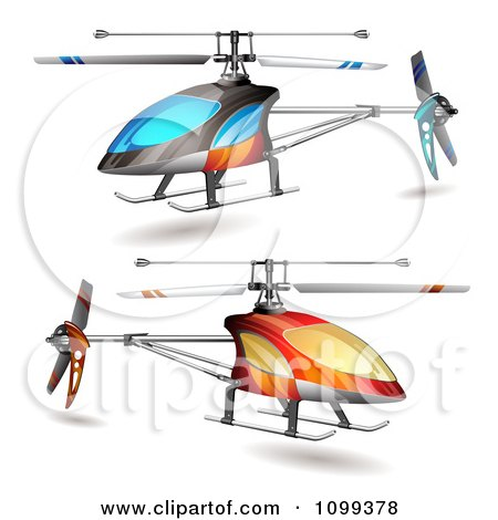 450x470 Clipart Of A Helicopter With Visible Blue Silhouetted Mechanical