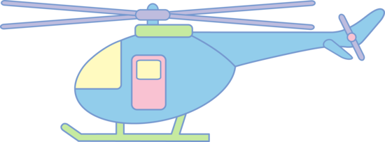 550x204 Cute Pastel Helicopter