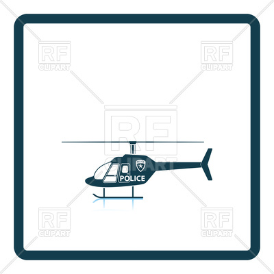 400x400 Police Helicopter Icon Royalty Free Vector Clip Art Image