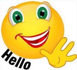 246x225 Free Hello Clipart