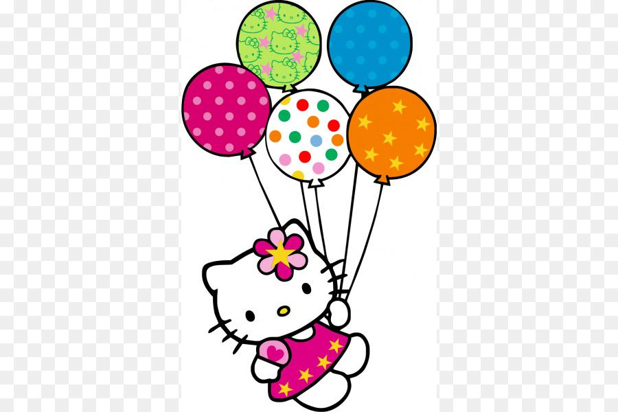 900x600 Hello Kitty Balloon Birthday Clip Art