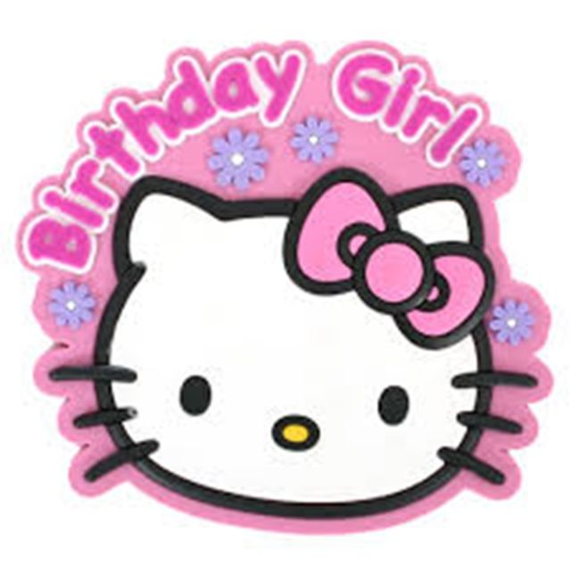 640x640 Hello Kitty Birthday Girl Badge Ebay