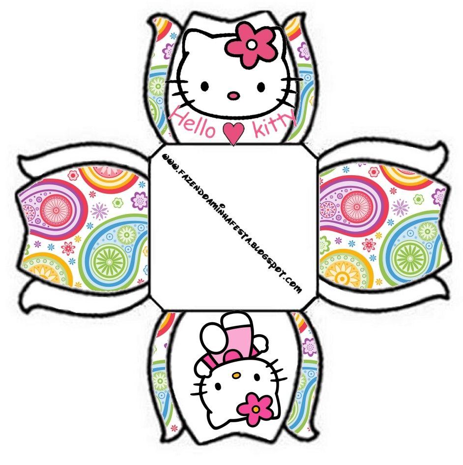 942x945 Hello Kitty Free Printable Boxes. Birthdays Jampe