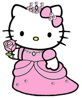 275x331 Hello Kitty Princess Clipart