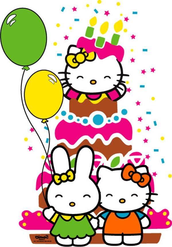 600x860 Hello Kitty 1st Birthday Clipart