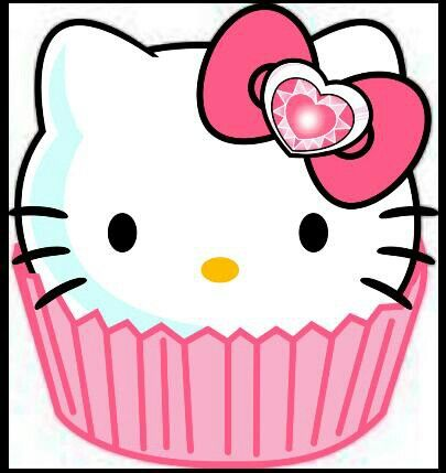 Hello Kitty Cupcake Clipart