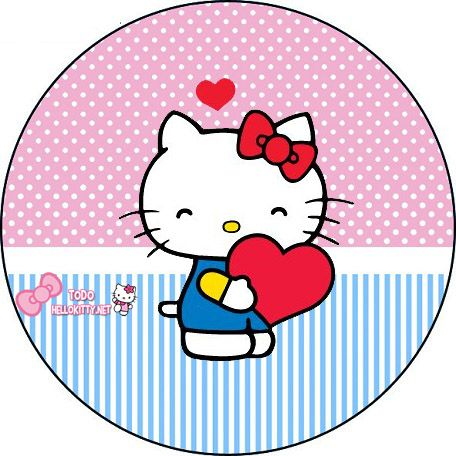 456x456 Etiquetas De Hello Kitty Toppers Para Cupcakes Hello Kitty