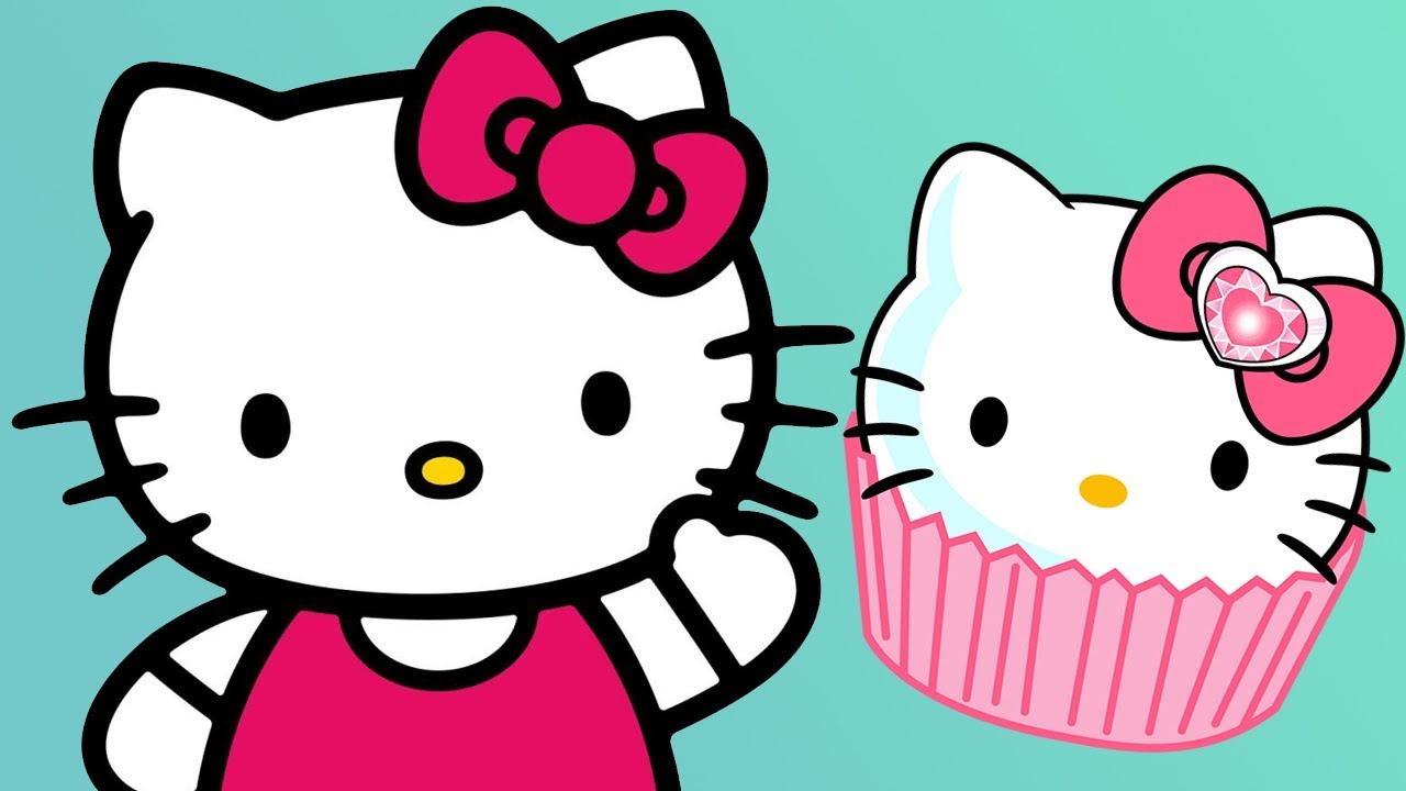 1280x720 Hello Kitty Cooking Cupcakes, Lunch Box, Learn Numbers Amp Counting