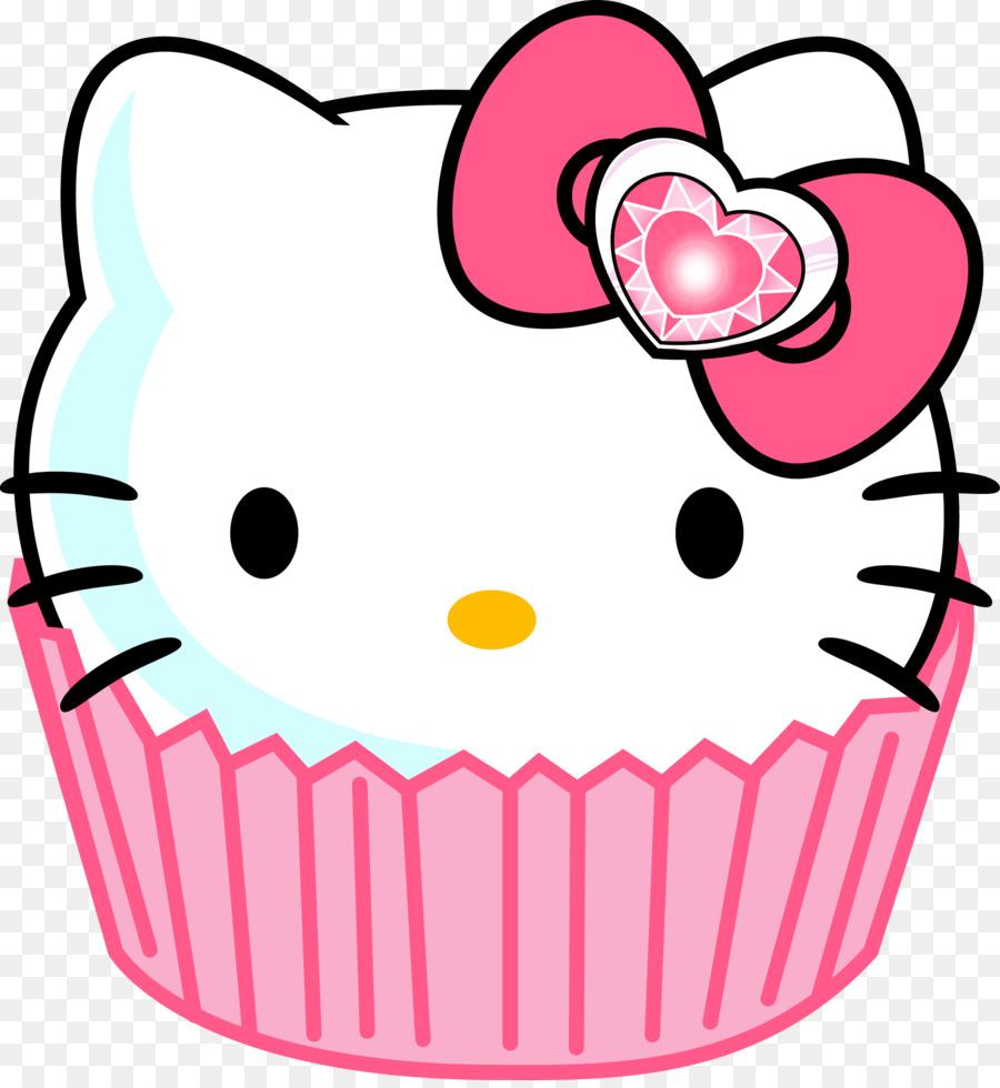 900x980 Hello Kitty Cupcake Clip Art