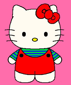 240x288 Hello Kitty Gymnastics Clipart