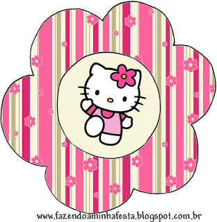 312x320 Hello Kitty With Flowers Free Printable Invitations. Oh My