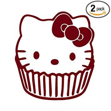 355x355 Angdest Hello Kitty Cupcake (Burgundy) Waterproof