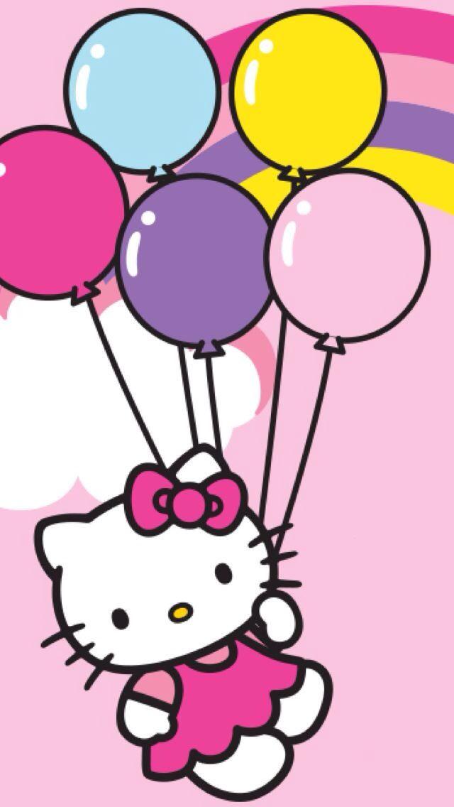640x1136 Balloon Clipart Hello Kitty