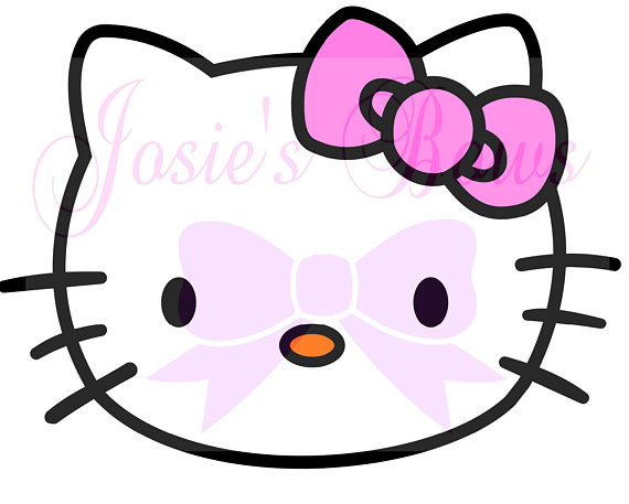570x457 Hello Kitty Face Head And Outline Cut Cutting File
