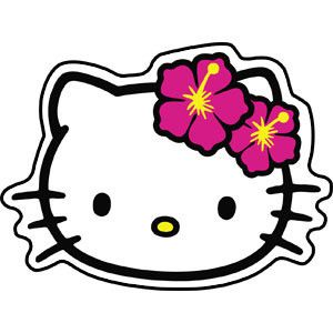 300x300 Hello Kitty Head Shot Sticker