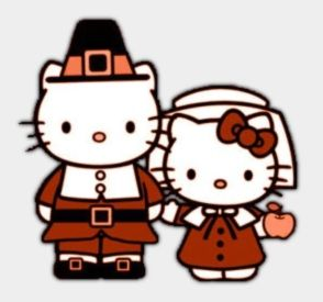 294x275 Collection Of Hello Kitty Thanksgiving Clipart High Quality