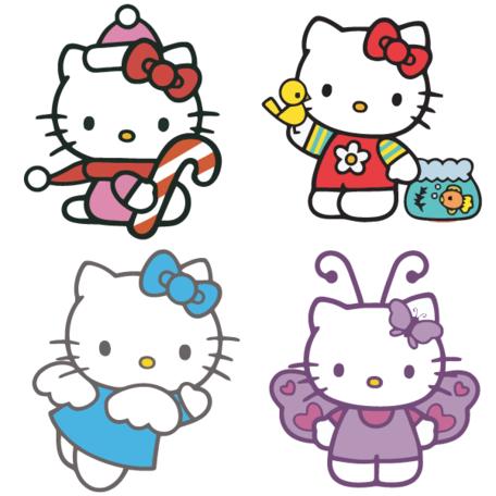 456x456 Hello Kitty Clip Art Vector Hello Kitty Graphics Image