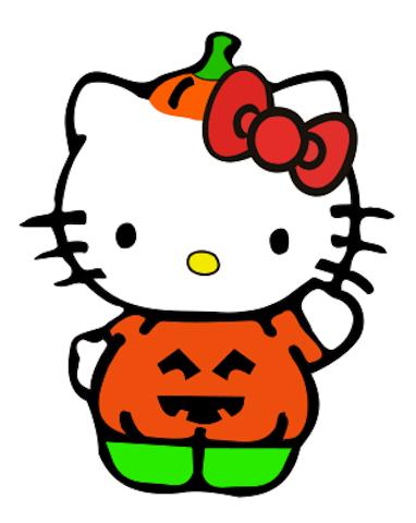 382x480 Hello Kitty Pumpkin Costume