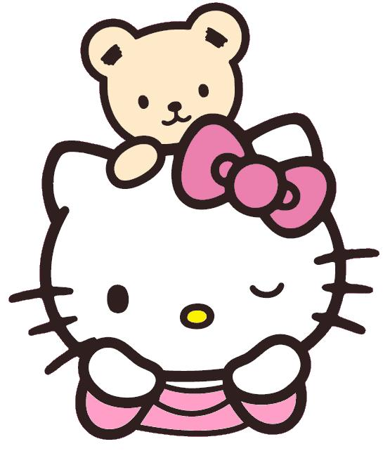555x642 Teddy Bear Clipart Hello Kitty'83666