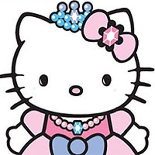 500x500 Hello Kitty Princess Castle Self Stick Wall Accent Decal Set