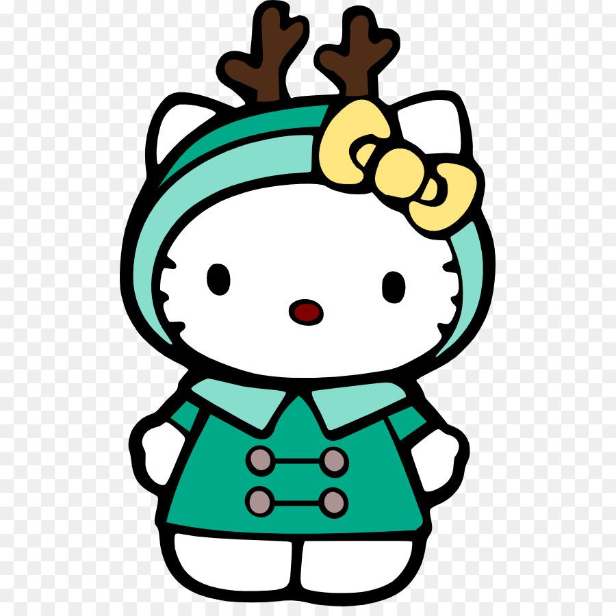 900x900 Hello Kitty Drawing Christmas Clip Art