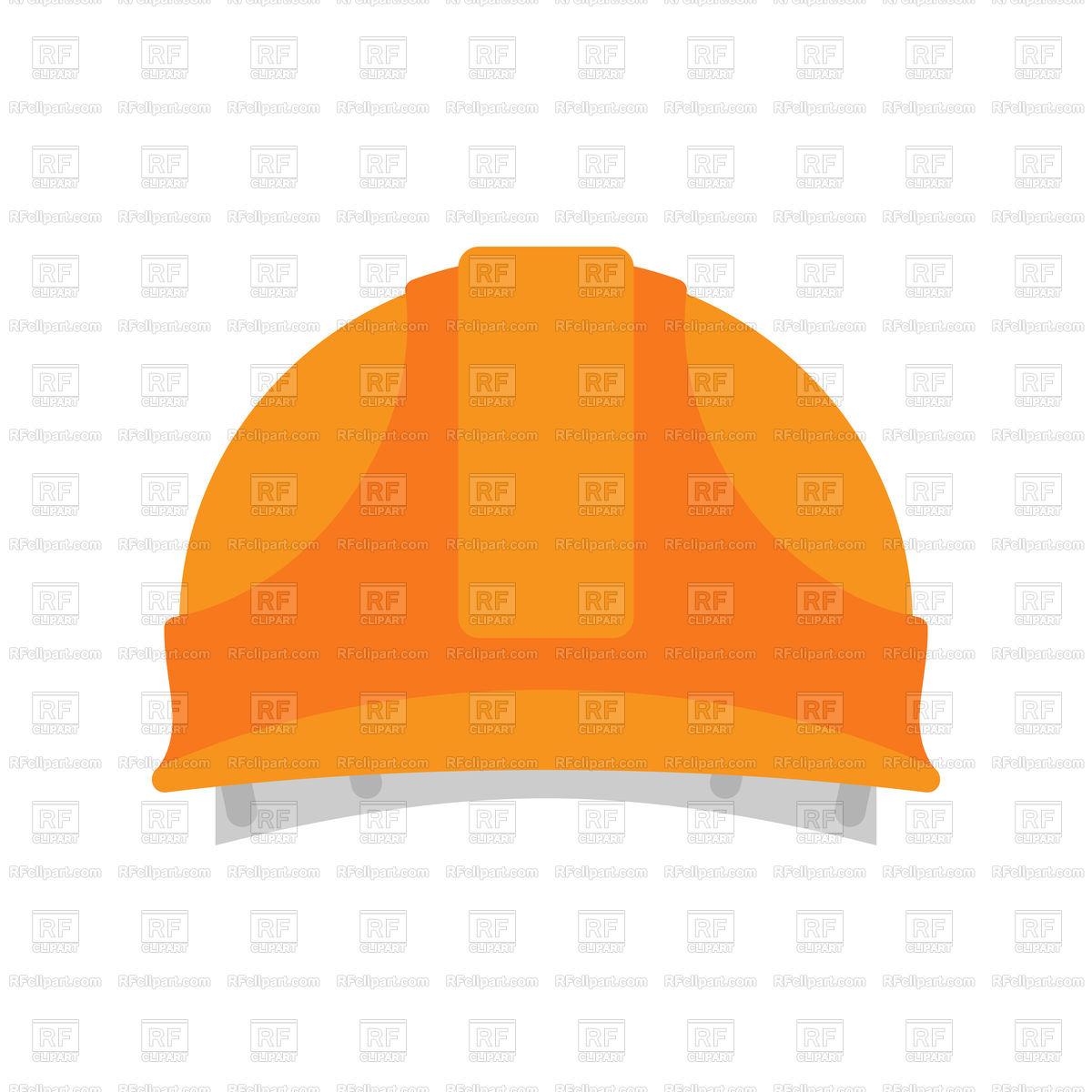 1200x1200 Builder Orange Protective Helmet Royalty Free Vector Clip Art