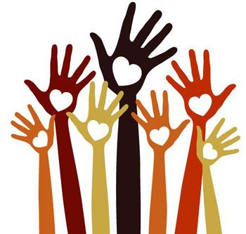 350x333 Helping Hands Clipart
