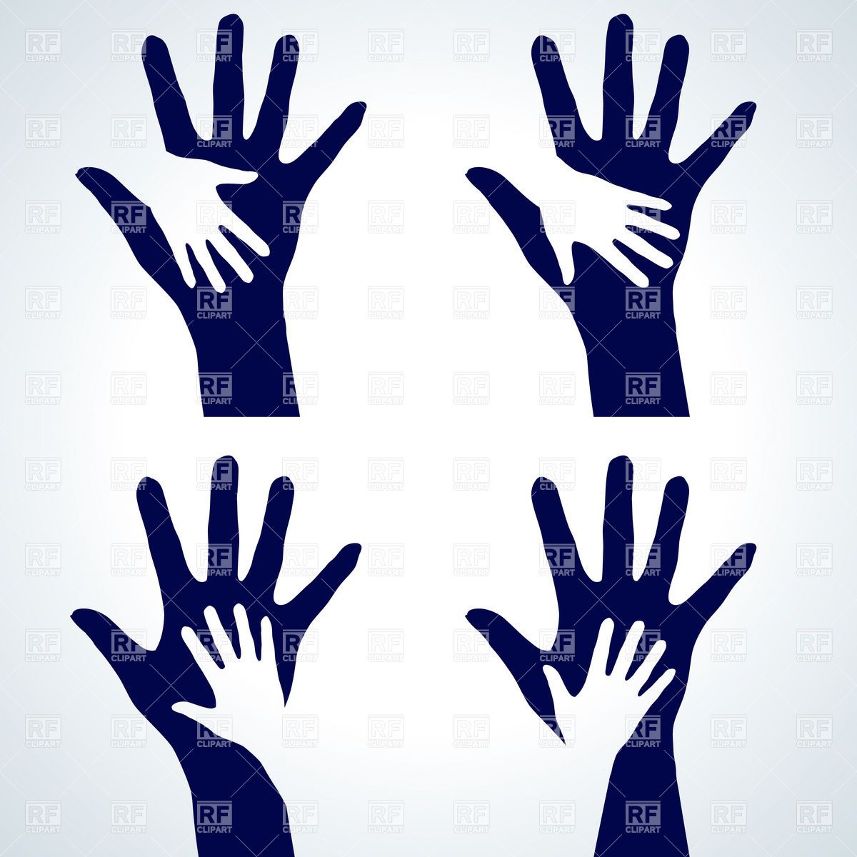 1200x1200 Helping Hands Child And Adult Royalty Free Vector Clip Art Image