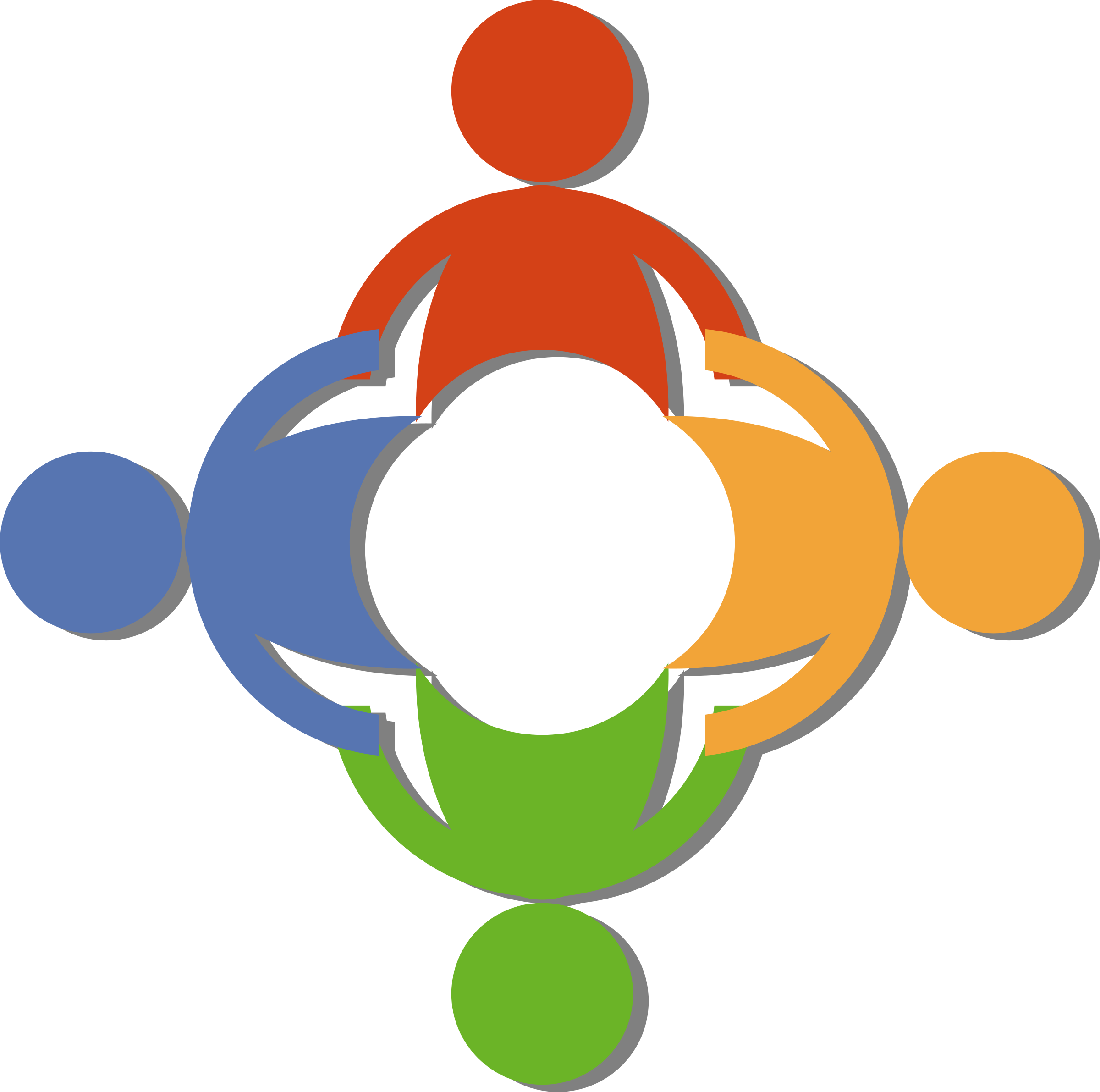 2400x2382 Community By @russel, A Community Logo With Persons Holding Hands