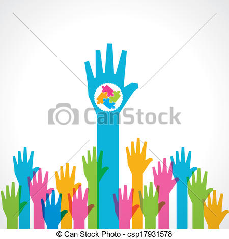 450x470 Helping Hands With Puzzle Pieces Colorful Helping Hand