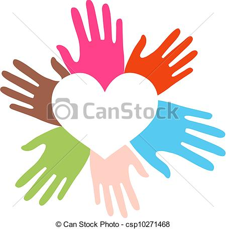 450x455 Mixed Ethnic Hands Love.