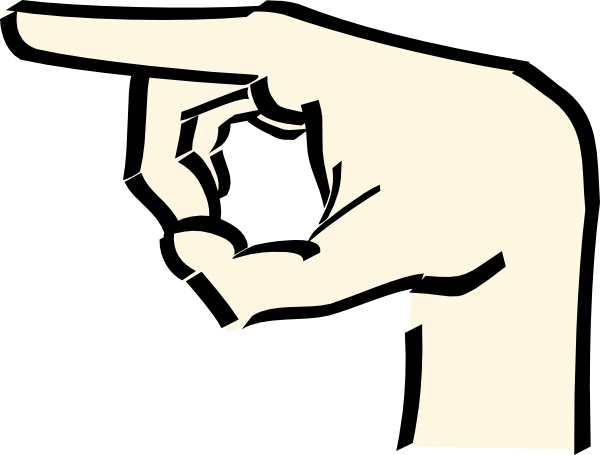 600x455 Pointing Hand Clipart