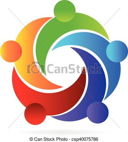 424x470 Logo Teamwork Helping People. Teamwork Helping People Icon