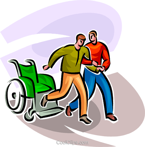 474x480 One Man Helping Another Man Royalty Free Vector Clip Art