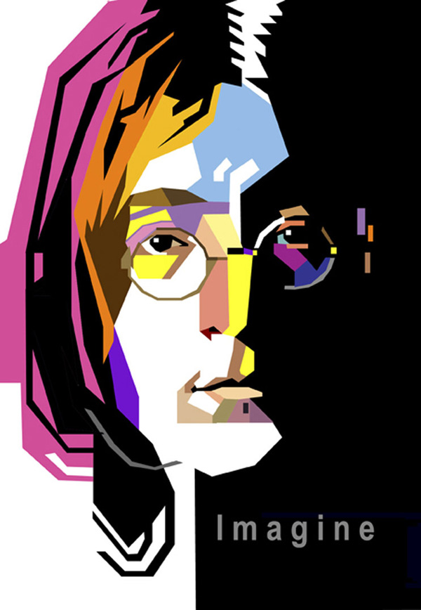 600x868 Caricature Clipart John Lennon