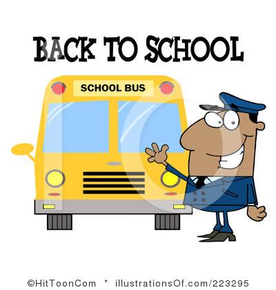 400x420 Free School Bus Driver Clipart