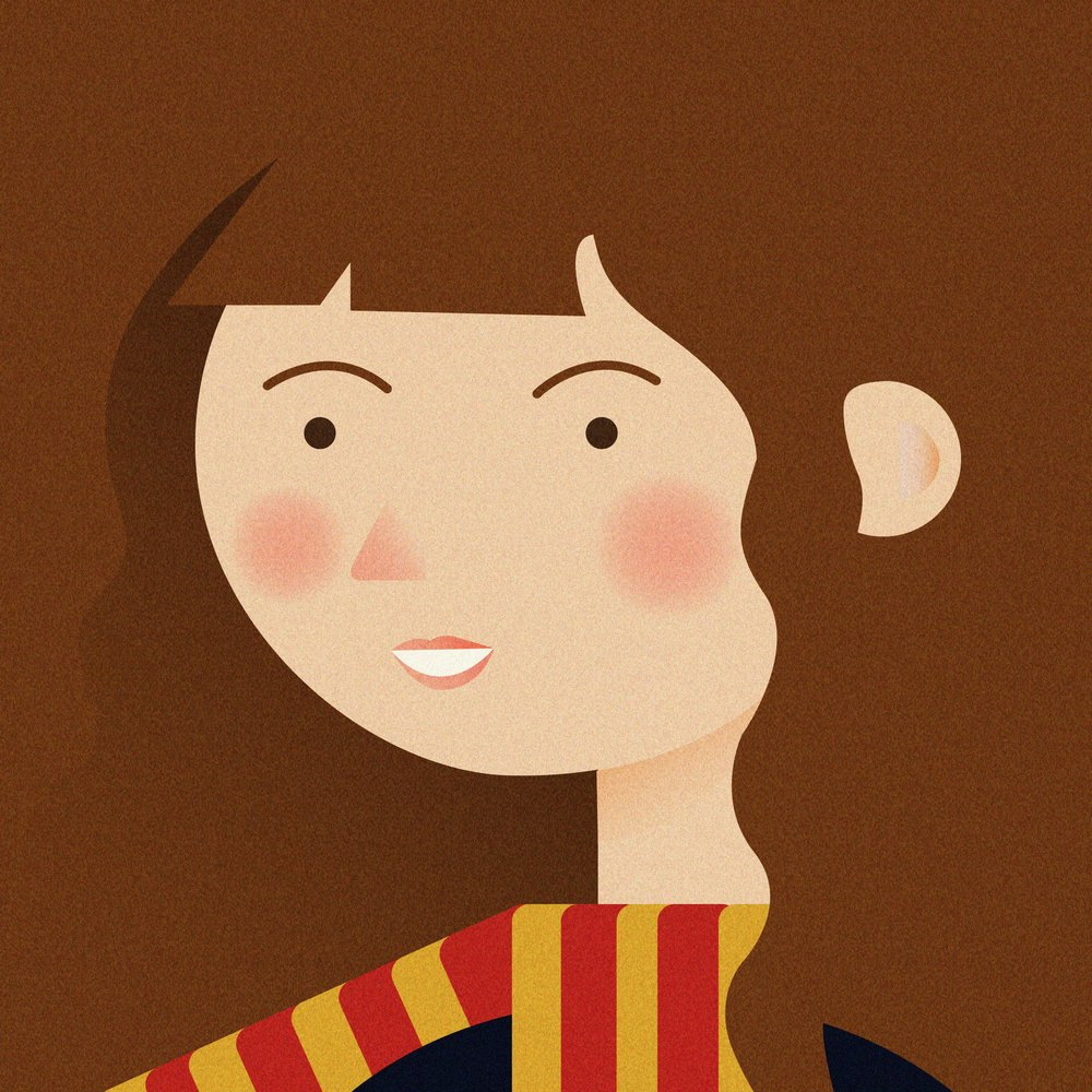 1000x1000 Hermione Granger From Harry Potter Minimalist Harry Potter