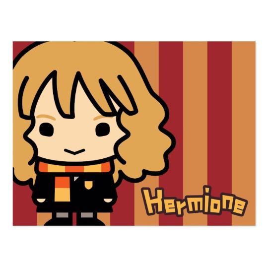 540x540 Hermione Granger Cartoon Character Art Postcard
