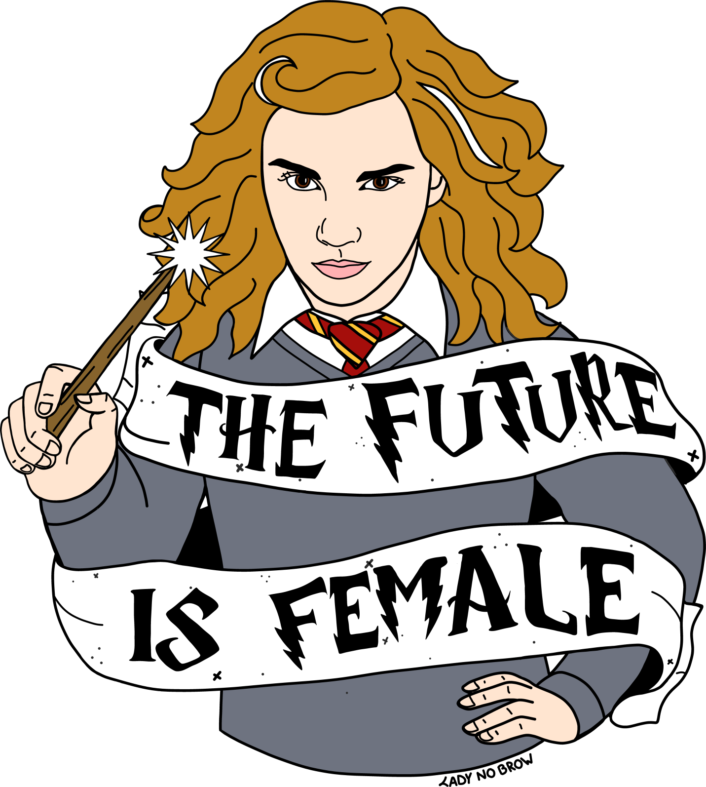 1431x1594 Ladynobrow Hermione Granger The Future Is Female Accessories