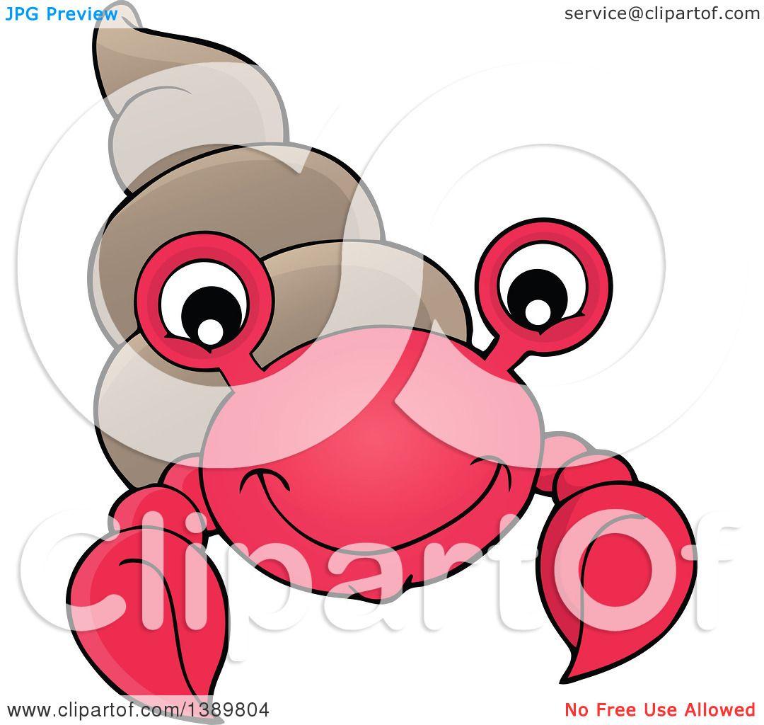 1080x1024 Clipart Of A Cartoon Happy Hermit Crab