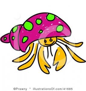 285x300 Cute Hermit Crab Clipart Clipart Panda