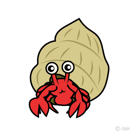 480x480 Free Hermit Crab Character Cartoon Amp Clipart